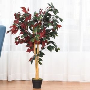 4-Feet Artificial Capensia Bush In/Outdoor Leaves